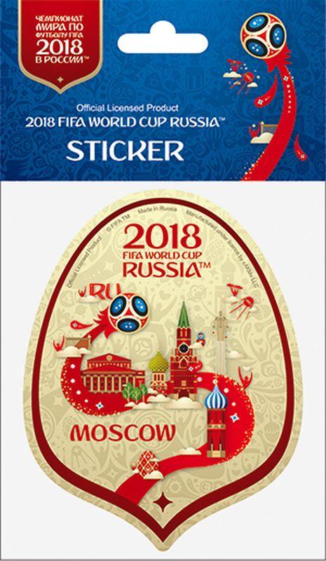 Наклейка FIFA Москва, цвет: бежевый, высота 100 ммF-05-100-01BGА вы подготовились к чемпионату мира по футболу в России FIFA-2018? Наклейка с символикой FIFA украсит ваш ноутбук, планшет, холодильник, машину, шкафчик, кружку, стену и многое другое!