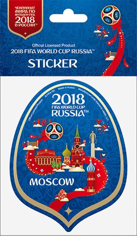 Наклейка FIFA Москва, цвет: синий, высота 100 ммF-05-100-01BLА вы подготовились к чемпионату мира по футболу в России FIFA-2018? Наклейка с символикой FIFA украсит ваш ноутбук, планшет, холодильник, машину, шкафчик, кружку, стену и многое другое!
