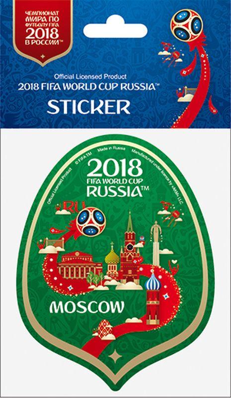 Наклейка FIFA Москва, цвет: зеленый, высота 100 ммF-05-100-01GА вы подготовились к чемпионату мира по футболу в России FIFA-2018? Наклейка с символикой FIFA украсит ваш ноутбук, планшет, холодильник, машину, шкафчик, кружку, стену и многое другое!