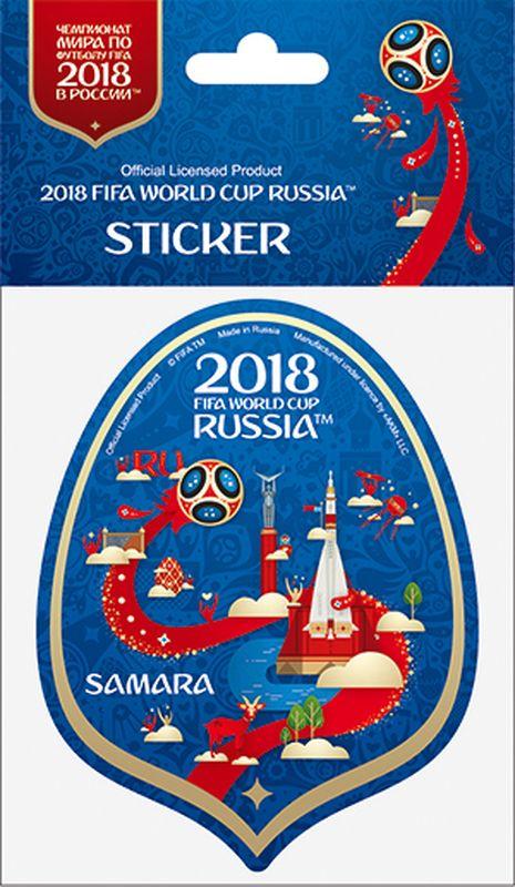 Наклейка FIFA Самара, цвет: синий, высота 100 ммF-05-100-10BLА вы подготовились к чемпионату мира по футболу в России FIFA-2018? Наклейка с символикой FIFA украсит ваш ноутбук, планшет, холодильник, машину, шкафчик, кружку, стену и многое другое!