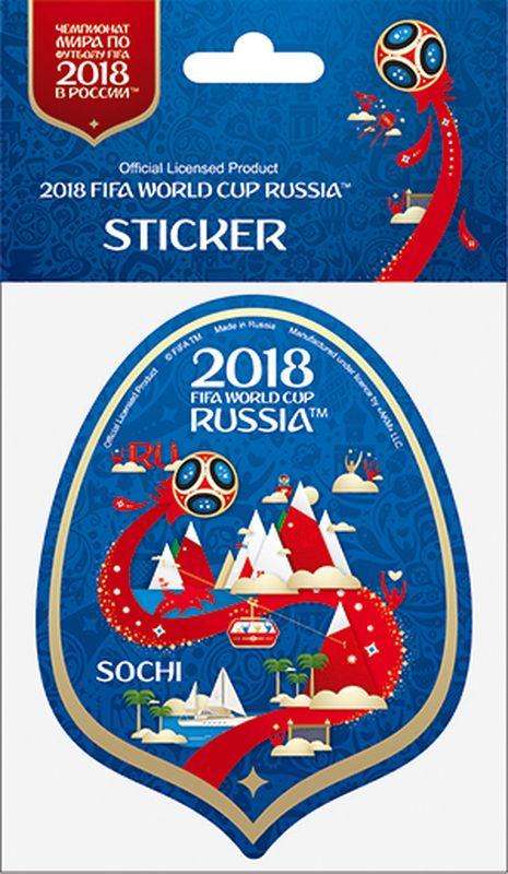 Наклейка FIFA Сочи, цвет: синий, высота 100 ммF-05-100-12BLА Вы подготовились к чемпионату мира по футболу в России FIFA-2018? Наклейка с символикой FIFA украсит Ваш ноутбук, планшет, холодильник, машину, шкафчик, кружку, стену и многое другое!