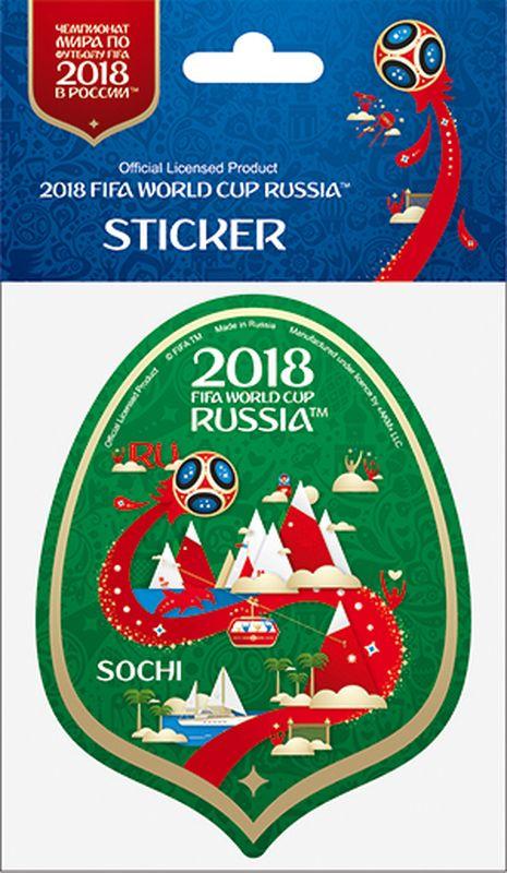 Наклейка FIFA Сочи, цвет: зеленый, высота 100 ммF-05-100-12GА вы подготовились к чемпионату мира по футболу в России FIFA-2018? Наклейка с символикой FIFA украсит ваш ноутбук, планшет, холодильник, машину, шкафчик, кружку, стену и многое другое!