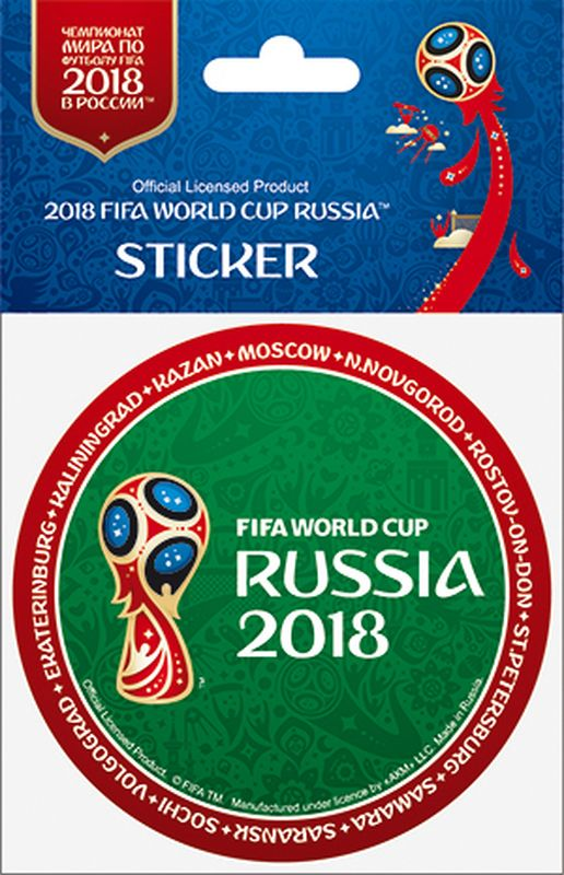 Наклейка FIFA Кубок слева. Ободок, цвет: зеленый, красный, диаметр 86 ммF-05-86-05А вы подготовились к чемпионату мира по футболу в России FIFA-2018? Наклейка с символикой FIFA украсит ваш ноутбук, планшет, холодильник, машину, шкафчик, кружку, стену и многое другое!
