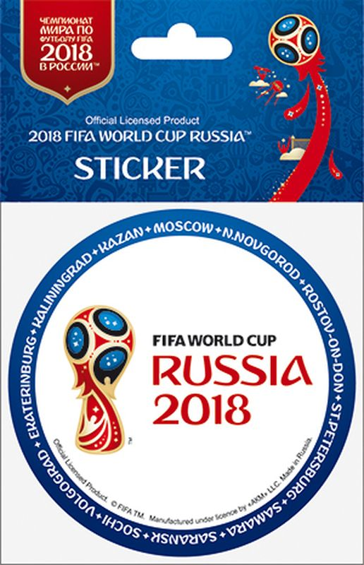 Наклейка FIFA Кубок слева. Ободок, цвет: белый, синий, диаметр 86 ммF-05-86-07А вы подготовились к чемпионату мира по футболу в России FIFA-2018? Наклейка с символикой FIFA украсит ваш ноутбук, планшет, холодильник, машину, шкафчик, кружку, стену и многое другое!
