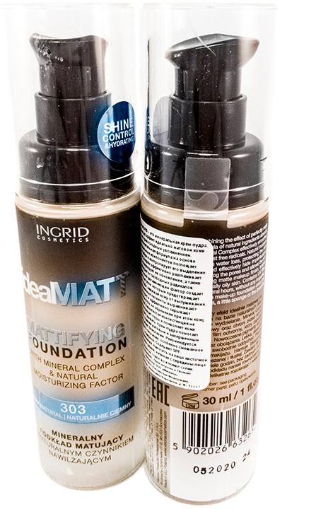 Verona Products Professional Ingrid Cosmetics Крем-пудра, Тон №303, цвет: бежевый, 30 мл991037Ideal Matt Ingrid – это минеральная крем-пудра, сочетающая эффект идеально матовой кожи с ее превосходным увлажнением. Исключительная формула на основе натуральных компонентов поглощает избыток кожного жира и контролирует его выделение. Mineral Complex эффективно разглаживает кожу, стимулирует ее обновление, а также защищает от свободных радикалов. Натуральный увлажняющий фактор создает защитный слой, который предотвращает потерю воды, защищая кожу от высушивания. Современные пигменты выравнивают колорит и эффективно скрывают несовершенства, не обременяя при этом кожу. Легкая, бархатистая консистенция не закупоривает поры и позволяет коже свободно дышать. Крем-пудра помогает сделать макияж матовым и завершенным. Уменьшает блеск кожи. Рекомендуется для каждого типа кожи, особенно смешанной и жирной. Содержит SPF.