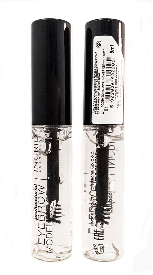 Verona Products Professional Ingrid Cosmetics Гель для бровей, цвет: прозрачный, 9 мл991112Гель для моделирования Eyebrow Modeling Gel Ingrid быстро и легко подчеркивает брови, придавая им идеальную форму. Быстросохнущая, кремовая формула заметно сгущает волоски и выравнивает их цвет. Продукт доступен в 3 оттенках: светло-коричневый (для блондинок и рыжеволосых), темно-коричневый (для шатенок и брюнеток), а также в прозрачной версии исключительно для стилизации бровей.