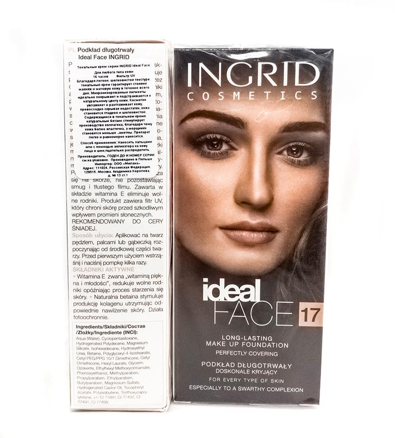 Verona Products Professional Ingrid Cosmetics Тональный крем, Тон №17, цвет: бежевый, 35 мл991202Необыкновенно деликатный тональный крем IDEAL FACE Ingrid идеально увлажняет и разглаживает кожу. Благодаря легкой текстуре идеально наносится, выравнивает тон кожи, скрывая покраснения и несовершенства. Придает коже мягкость, эластичность и интенсивно увлажняет, благодаря чему макияж выглядит свежим в течении долгого времени. Микронизированные пигменты обеспечивают отличное покрытие и идеально подходят к цвету кожи. В составе тонального крема содержится ингредиент, который продлевает длительность макияжа, соответственно увлажняет и разглаживает. Бетаин стимулирует выработку коллагена, поэтому кожа становится эластичной, шелковисто - гладкой и бархатистой. Тонкие линии и морщины стaновятся менее заметными. УФ-фильтр защищает от вредного воздействия солнечных лучей. Благодаря легкой текстуре идеально наносится, выравнивает тон кожи, скрывая покраснения и несовершенства. Придает коже мягкость, эластичность и интенсивно увлажняет, благодаря чему макияж выглядит свежим в течении долгого времени. Микронизированные пигменты обеспечивают отличное покрытие и идеально подходят к цвету кожи. В составе тонального крема содержится ингредиент, который продлевает длительность макияжа, соответственно увлажняет и разглаживает. Бетаин стимулирует выработку коллагена, поэтому кожа становится эластичной, шелковисто - гладкой и бархатистой. Тонкие линии и морщины становятся менее заметными. УФ-фильтр защищает от вредного воздействия солнечных лучей.