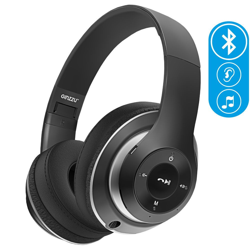 Ginzzu Headphone GM-451BT, Black наушники