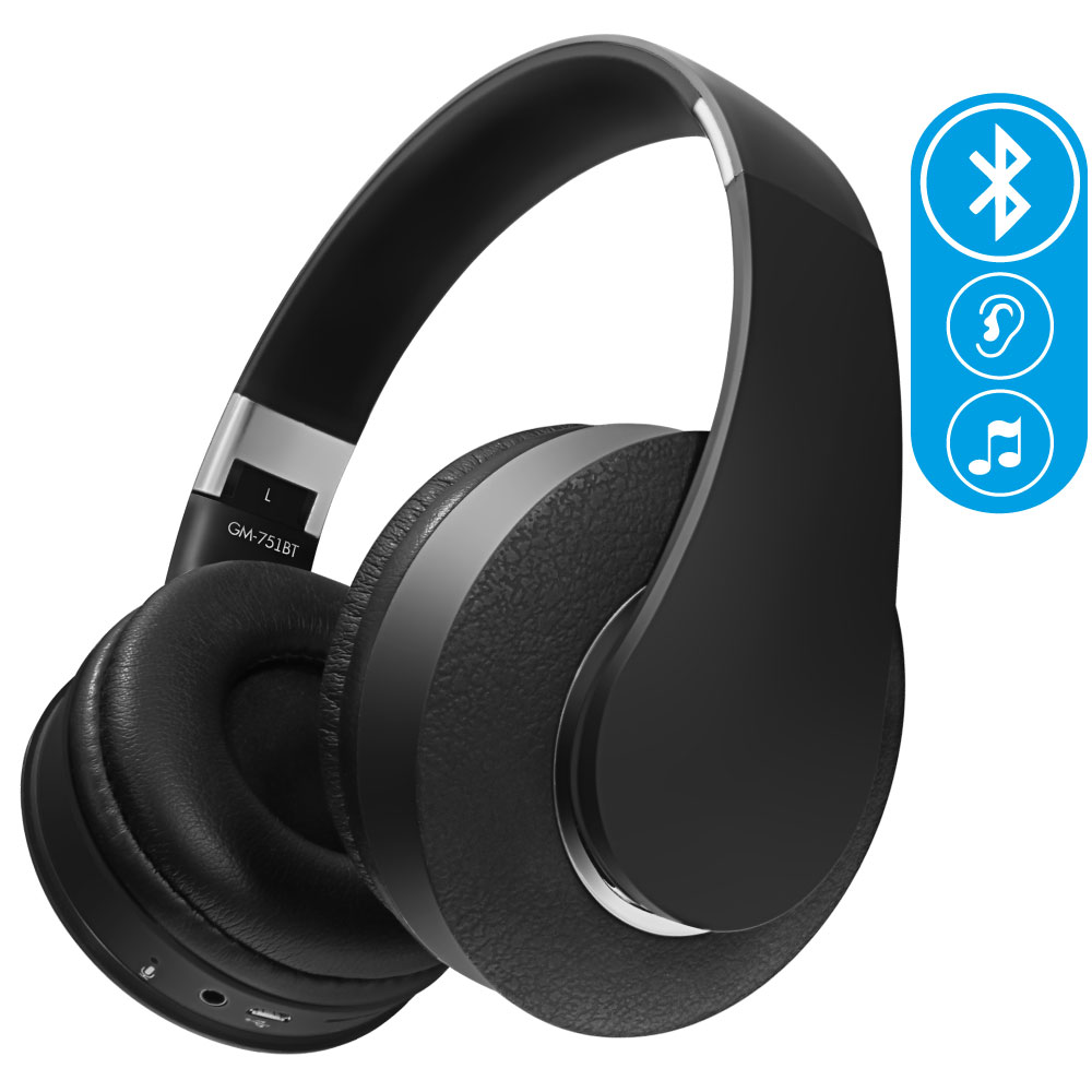 Ginzzu Headphone GM-751BT, Black наушники