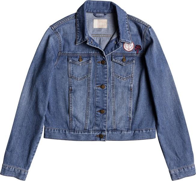 Куртка женская Roxy Hello Spring, цвет: голубой. ERJJK03226-BFN0. Размер L (46)ERJJK03226-BFN0Женская куртка Roxy выполнена из высококачественного натурального хлопка. Куртка имеет прямой стандартный покрой. Куртка с отложным воротником и длинными рукавами застегивается на пуговицы. Спереди расположены два втачных кармана и два накладных с клапанами на пуговицах.