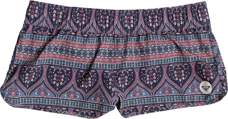 Шорты женские Roxy Elasticated Boardshort, цвет: синий, красный. ERJBS03100-BND5. Размер XS (40) шорты пляжные женские roxy love цвет синий белый коралловый erjbs03065 pqf6 размер 42 s