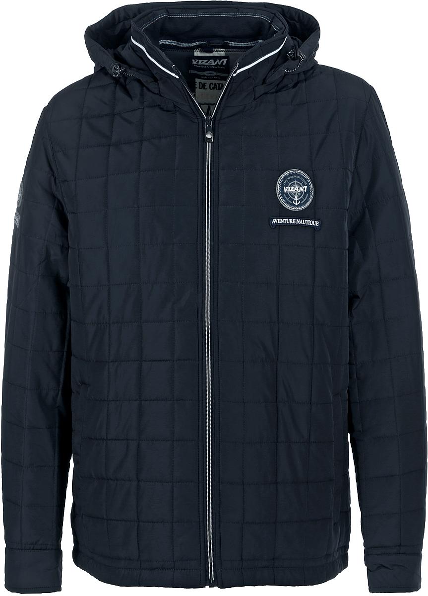 Куртка мужская Vizani, цвет: синий. 20525С_99. Размер 5620525С_99Мужская куртка Vizani выполнена из высококачественного материала. Стеганная модель с капюшоном застегивается на застежку-молнию. Куртка дополнена карманами.
