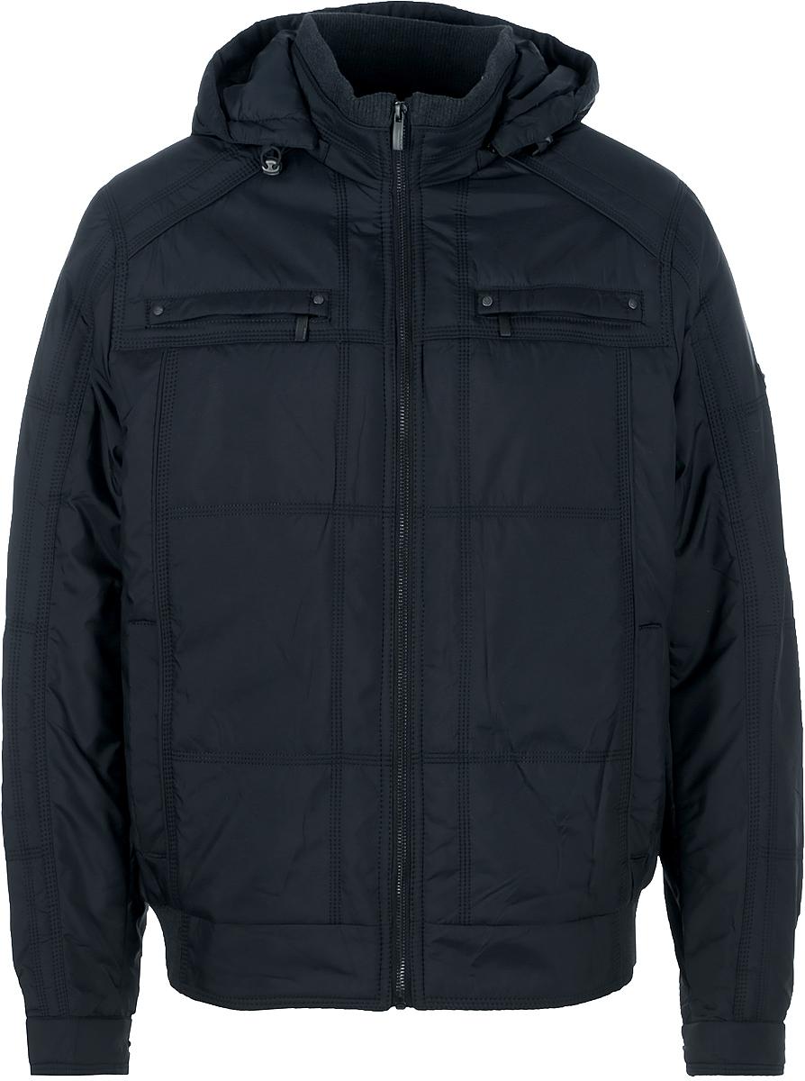 Куртка мужская Vizani, цвет: синий. 2859С_199 . Размер 522859С_199Мужская куртка Vizani выполнена из высококачественного материала. Модель с капюшоном застегивается на застежку-молнию. Куртка дополнена карманами на застежках-молниях.