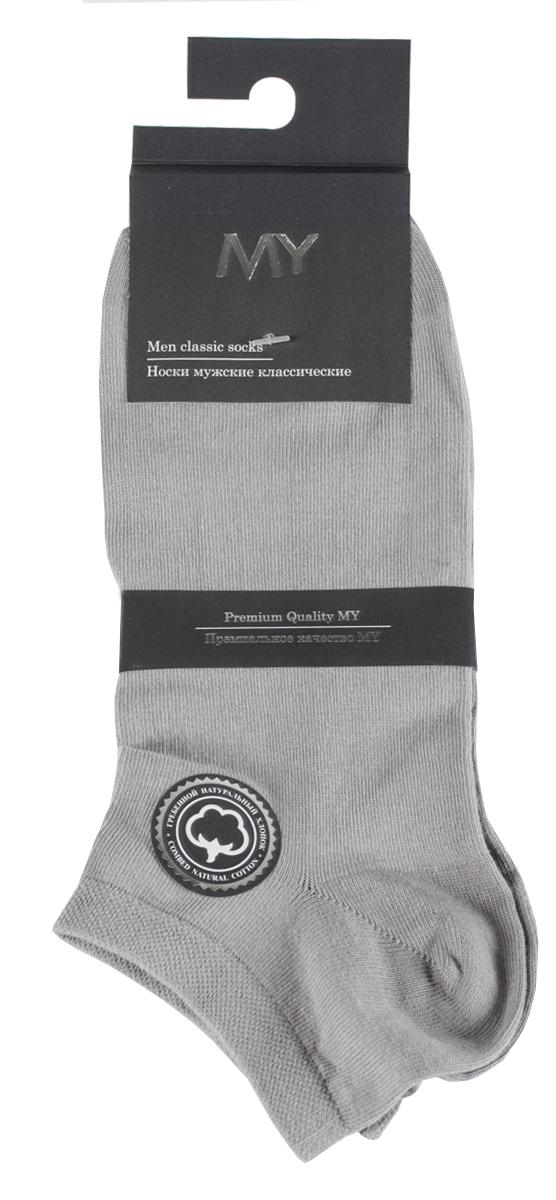 Носки мужские Mirey, цвет: светло-серый. MSC 006. Размер (38/40)MSC 006Короткие мужские носки от Mirey выполнены из хлопка с эластаном.Усиленный мысок и пятка, двойная резинка сетка, плоский шов.