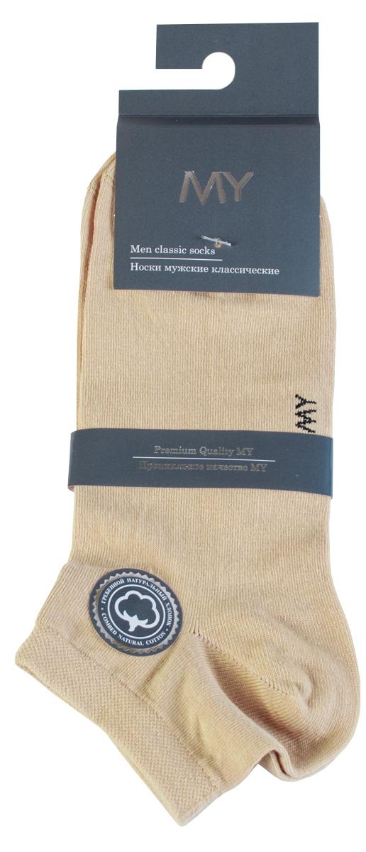 Носки мужские Mirey, цвет: бежевый. MSC 006. Размер (38/40)MSC 006Короткие мужские носки от Mirey выполнены из хлопка с эластаном.Усиленный мысок и пятка, двойная резинка сетка, плоский шов.