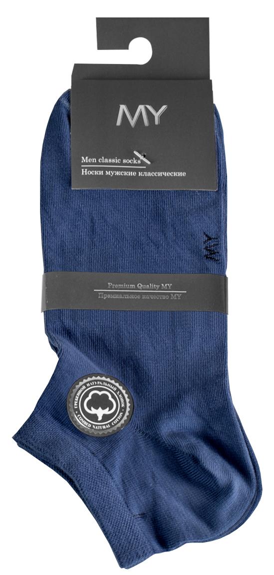 Носки женские Mirey, цвет: синий. MSC 008. Размер (38/40)MSC 008Короткие женские носки от Mirey выполнены из хлопка с эластаном.Усиленный мысок и пятка, двойная резинка сетка, плоский шов.