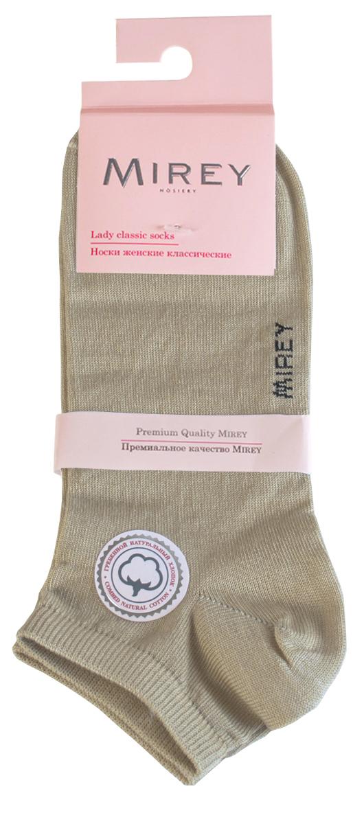 Носки женские Mirey, цвет: золотой. MSC 009. Размер (38/40)MSC 009Короткие женские носки от Mirey выполнены из мерсеризованного хлопка.Усиленный мысок и пятка, двойная резинка, плоский шов.