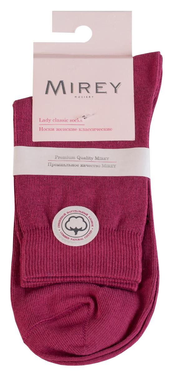 Носки женские Mirey, цвет: коралловый. MSC 007. Размер (35/37)MSC 007Классические женские носки от Mirey выполнены из хлопка с эластаном.Усиленный мысок и пятка, двойная резинка сетка, плоский шов.