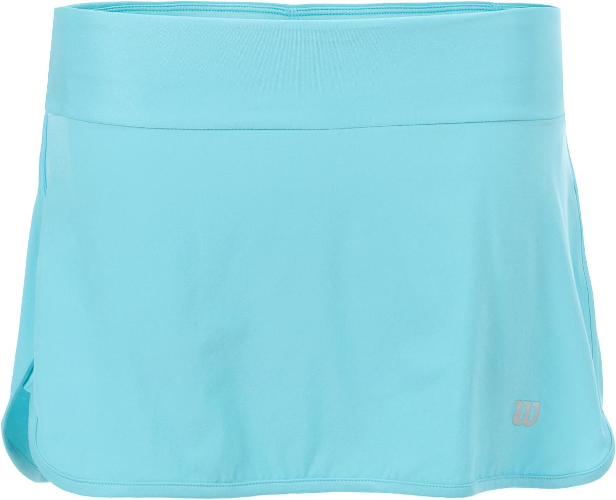 Юбка для тенниса Wilson Condition 13.5 Skirt, цвет: голубой. WRA764404. Размер XS (40/42)WRA764404Юбка для тенниса от Wilson выполнена из эластичного трикотажа. Модель с эластичной резинкой на талии.