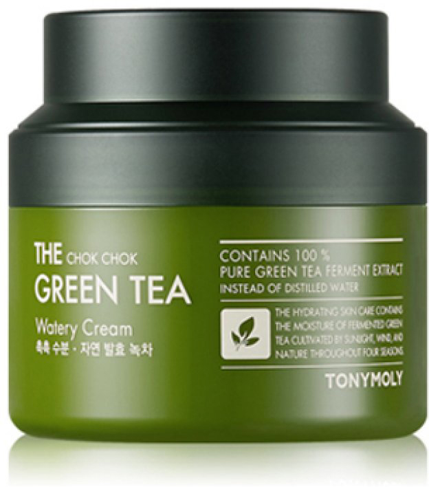 Tony Moly Крем с экстрактом зеленого чая The Chok Chok Green Tea Watery Cream, 60 мл tony moly крем с экстрактом зеленого чая the chok chok green tea watery cream 60 мл