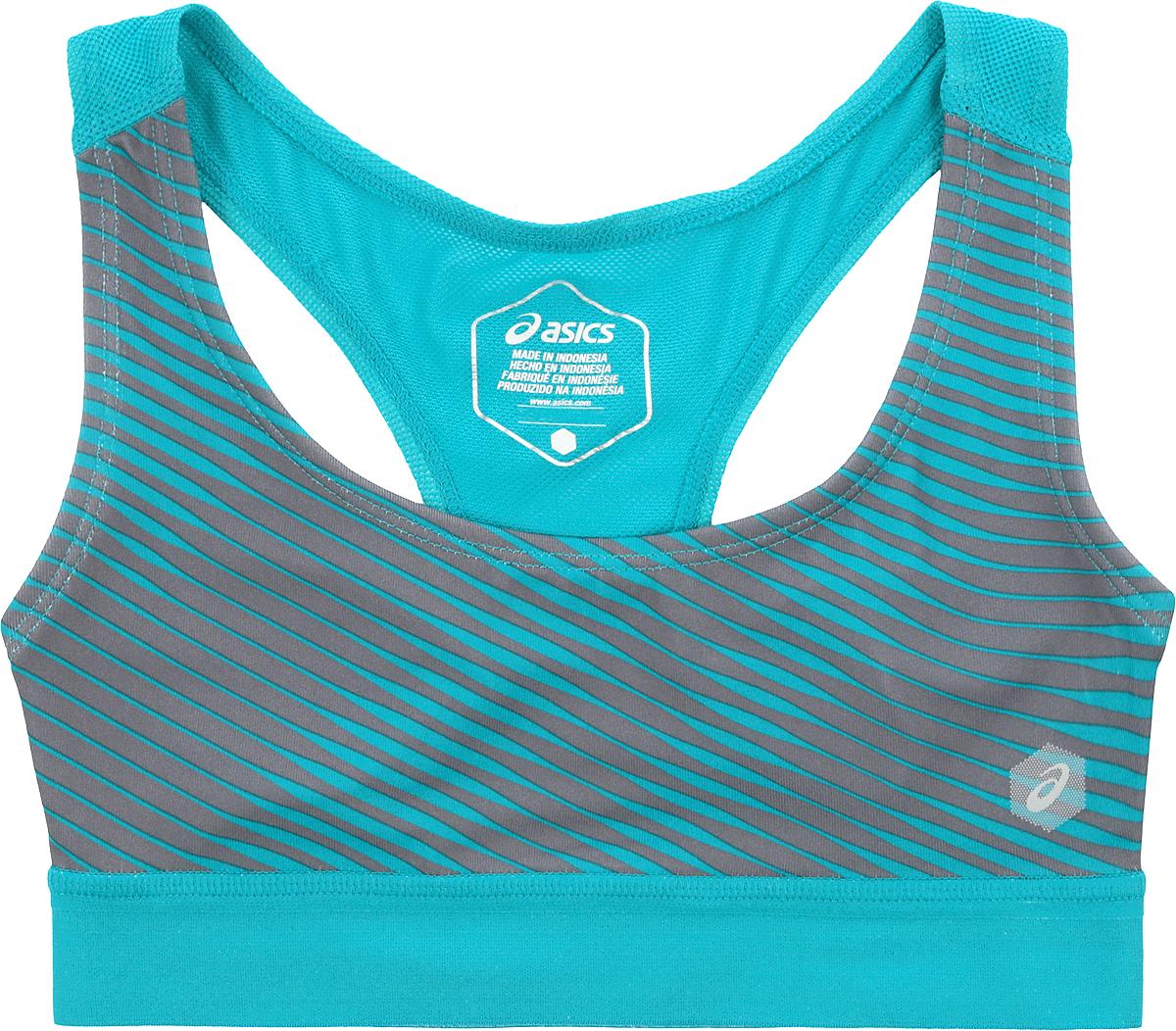 Топ-бра для фитнеса Asics Prfm Bra, цвет: бирюзовый. 155226-8098. Размер XL (50) топ бра для фитнеса asics racerback bra цвет розовый 141117 0688 размер xs 40 42