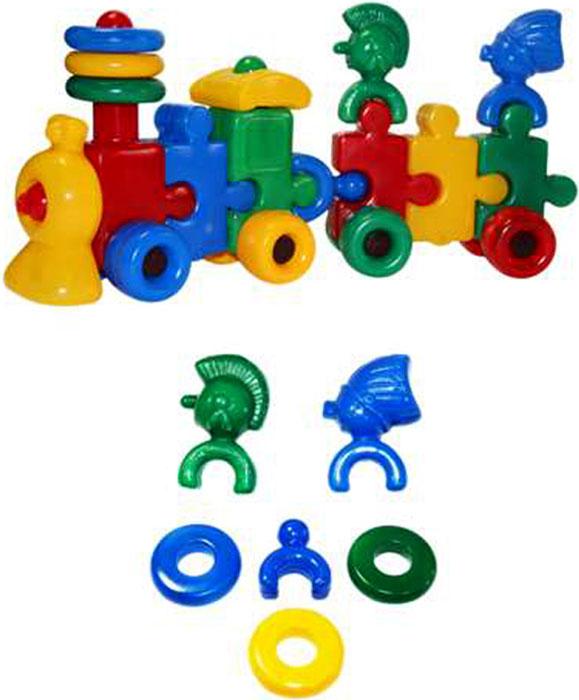 СВСД Паровоз с индейцами 1 вагон, Строим вместе счастливое детство (СВСД), Развивающие игрушки  - купить со скидкой