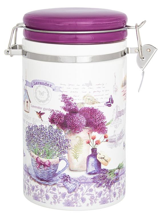Банка для сыпучих продуктов Elan Gallery изготовлена из прочной керамики высокого качества.  Изделие оформлено красочным изображением. Гладкая и ровная глазурованная поверхность обеспечивает легкую очистку.  Банка прекрасно подойдет для хранения различных сыпучих продуктов: специй, чая, кофе, сахара, круп и многого другого.  Крышка плотно закрывается с помощью металлического зажима-клипсы, дольше сохраняя свежесть продуктов.  Яркий дизайн подарит Вам хорошее настроение и украсит Вашу кухню!