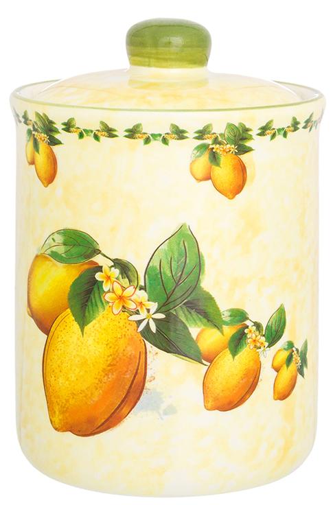 Банка для сыпучих продуктов Elan Gallery Лимоны, с крышкой, 530 мл банка для сыпучих продуктов сладости 850 мл