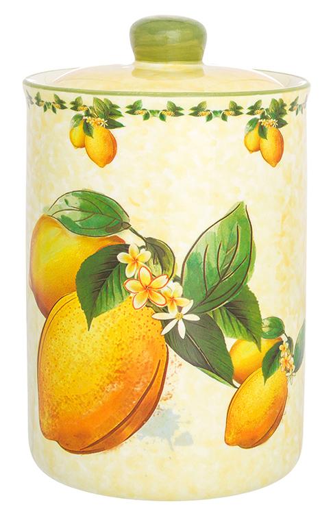 Банка для сыпучих продуктов Elan Gallery Лимоны, с крышкой, 680 мл банка для сыпучих продуктов сладости 850 мл