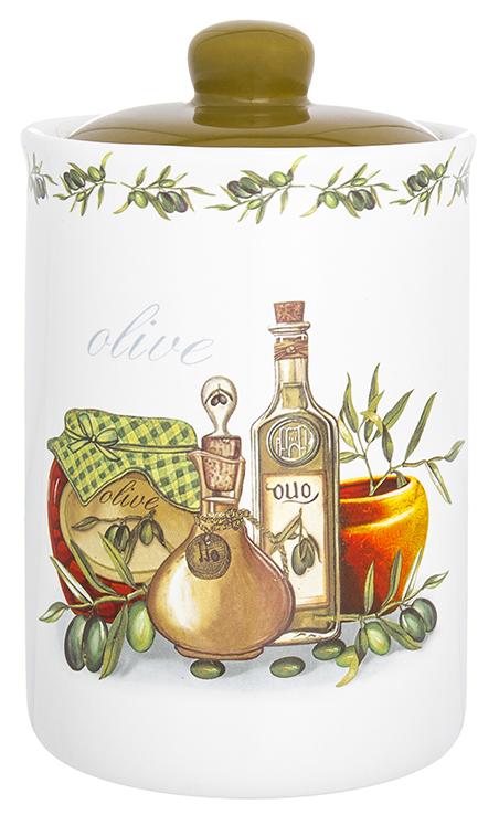 Банка для сыпучих продуктов Elan Gallery Оливковое масло, с крышкой, 680 мл720320Банка для сыпучих продуктов Elan Gallery изготовлена из прочной керамики высокого качества. Изделие оформлено красочным изображением. Гладкая и ровная глазурованная поверхность обеспечивает легкую очистку. Банка прекрасно подойдет для хранения различных сыпучих продуктов: специй, чая, кофе, сахара, круп и многого другого. В комплекте идет крышка, что помогает дольше сохранять свежесть продуктов.Яркий дизайн подарит вам хорошее настроение и украсит вашу кухню!