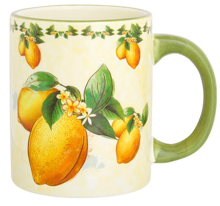 Кружка Elan Gallery Лимоны, цвет: мультиколор, 300 мл720329Классическая кружка Elan Gallery Лимоны с удобной ручкой прекрасно подойдет для любых напитков. Не оставит равнодушным ни одного из ваших гостей и станет прекрасным выбором для подарка.