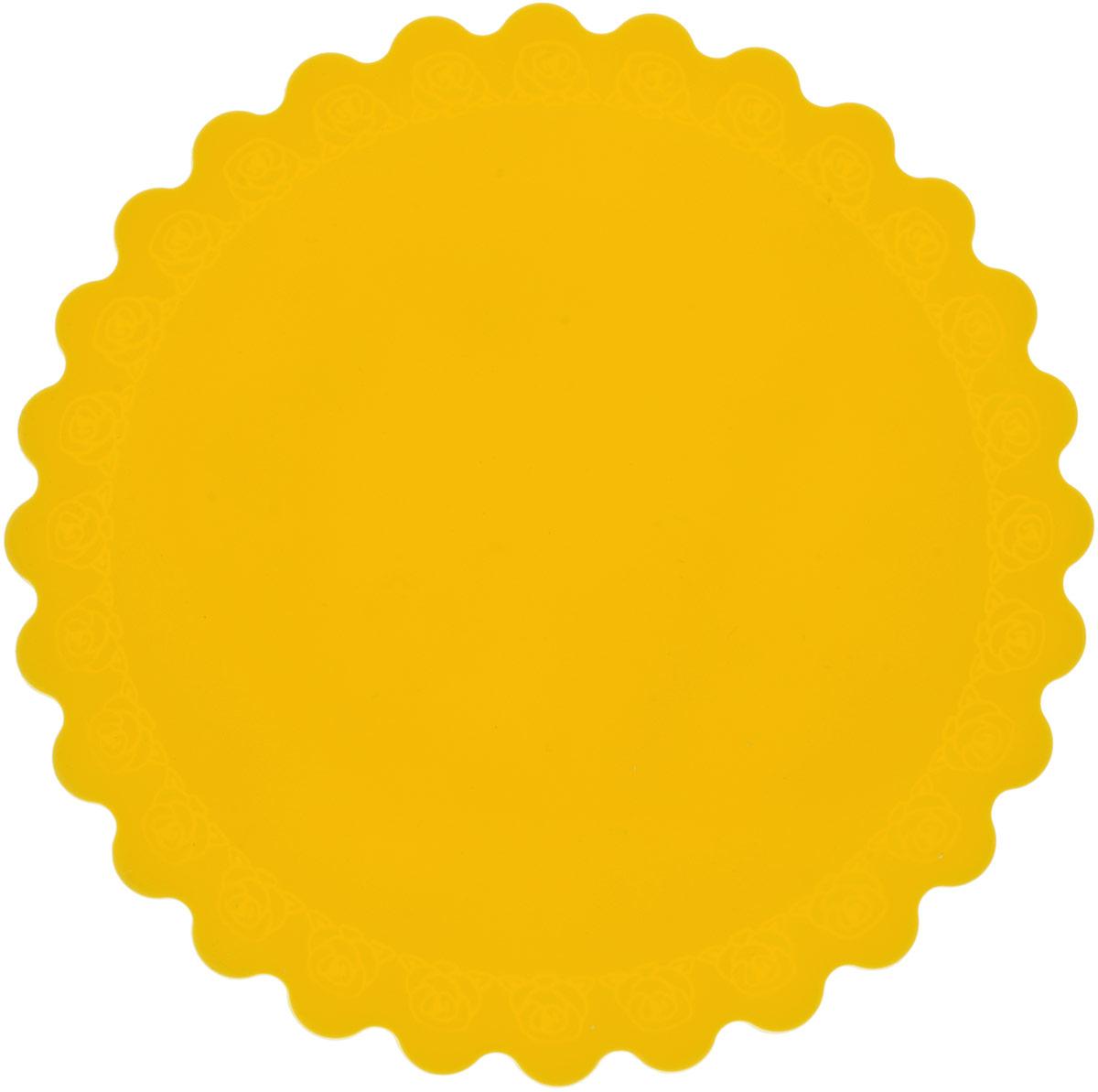 Подставка под горячее Доляна Цветок, цвет: желтый, диаметр 14 см1057101_желтыйСиликоновая подставка под горячее - практичный предмет, который обязательно пригодится в хозяйстве.Изделие поможет сберечь столы, тумбы, скатерти и клеенки от повреждения нагретыми сковородами, кастрюлями,чайниками и тарелками.
