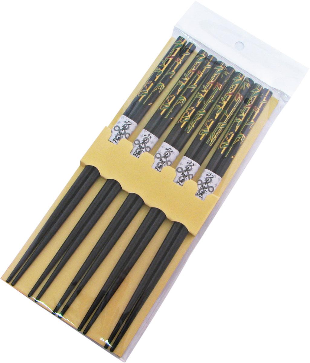 Палочки бамбуковые, цвет: черный, 10 шт. 40355 набор для кухни pasta grande 1126804