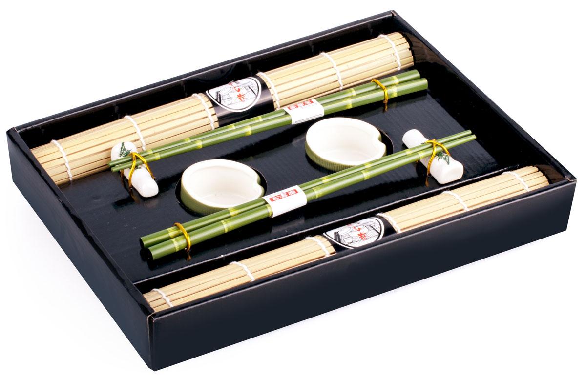 Набор для суши, цвет: белый, зеленый, 8 предметов набор для суши цвет красный черный коричневый 10 предметов