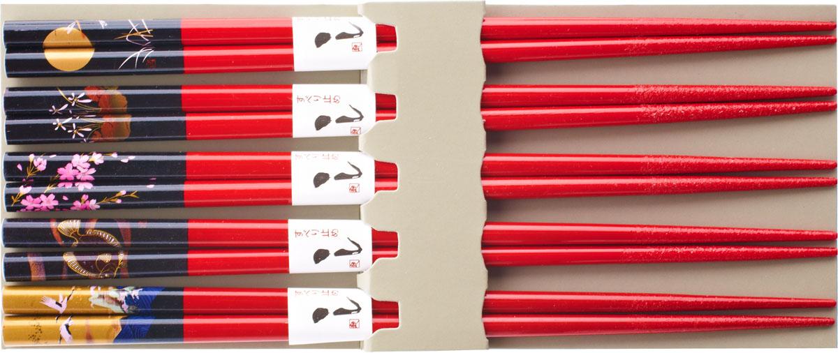 Палочки бамбуковые, цвет: красный, 10 шт набор для кухни pasta grande 1126804