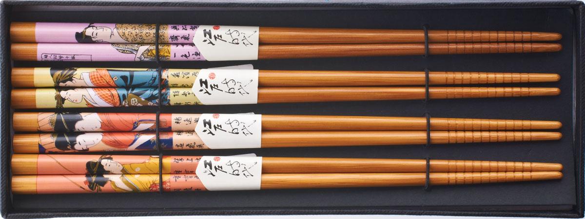 Палочки бамбуковые, цвет: светло-коричневый, 8 шт набор для кухни pasta grande 1126804