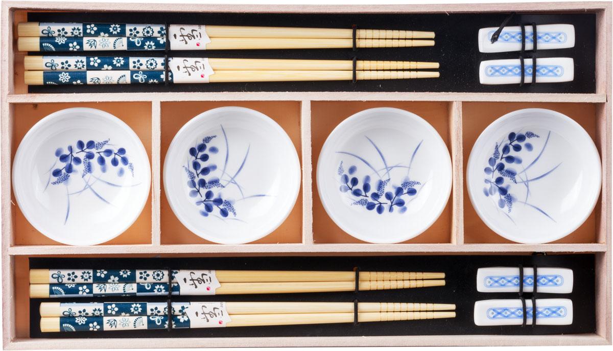 Набор для суши, цвет: белый, бежевый, синий, 12 предметов набор для суши цвет красный черный коричневый 10 предметов