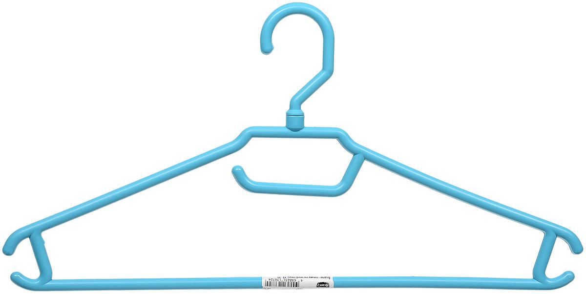 Вешалка для одежды BranQ, цвет: голубой, размер 48-50 ricom вешалка для одежды ricom а2501 mpftwqd