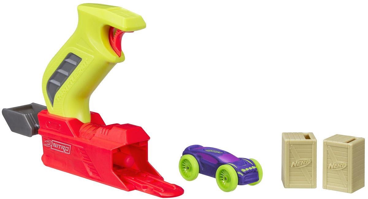 Nerf Игровой набор с машинкой Throttleshot Blitz набор игровой для мальчика poli средний трек с умной машинкой