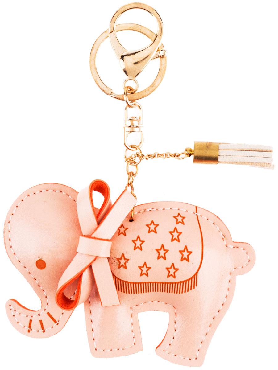 Стильный и практичный аксессуар, который можно использовать в разных целях, послужит достойным украшением вашей сумочки, одежды или  ключей. Брелок в виде слоника выполнен из искусственной кожи.  Крепится брелок при помощи прочного кольца и карабина, гарантирующих сохранность прикрепленных к брелоку ключей и самого брелока.  Размер - 10 х 6 см.