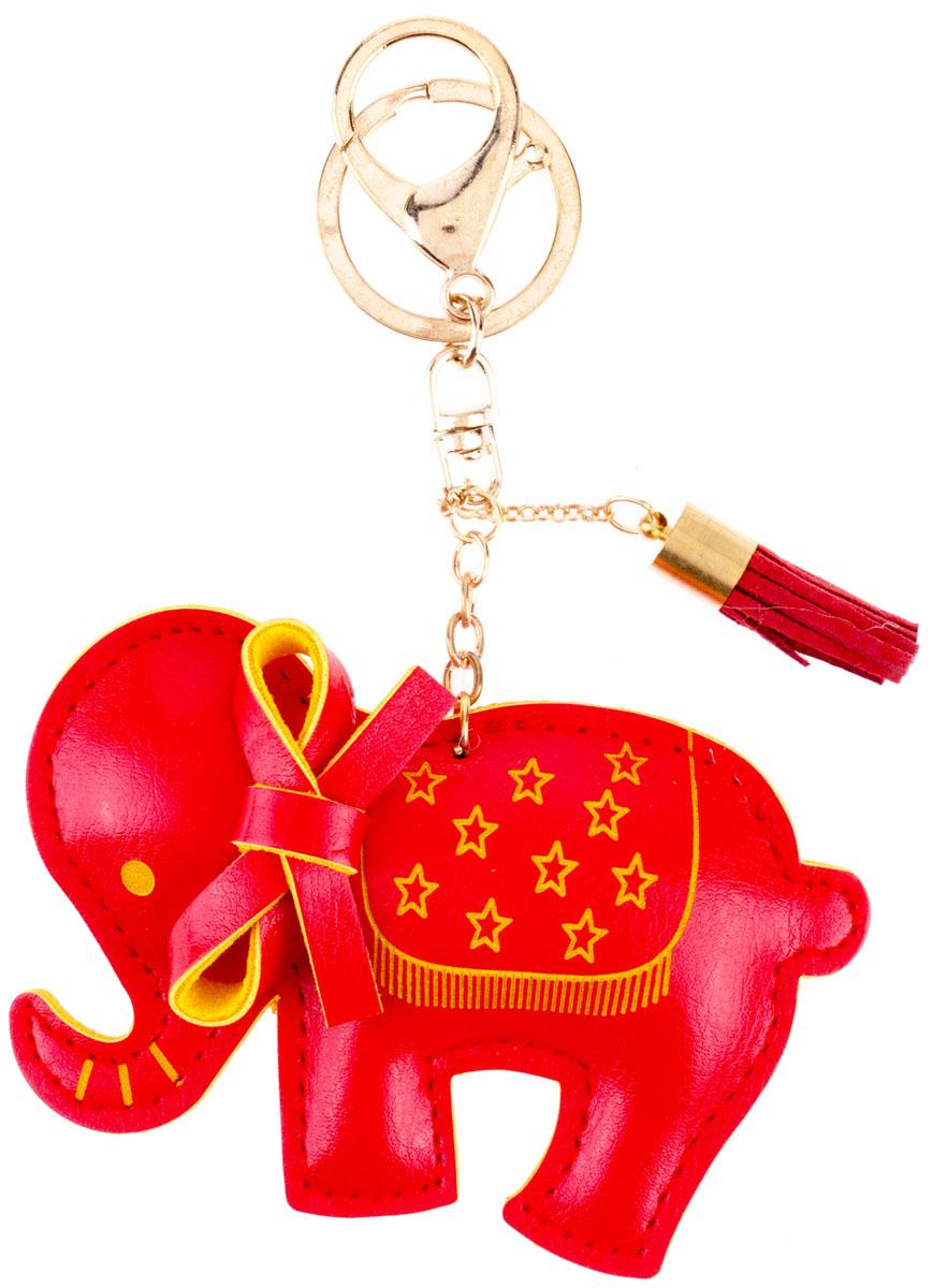 Брелок Слоник, цвет: красныйМеталлСтильный и практичный аксессуар, который можно использовать в разных целях, послужит достойным украшением вашей сумочки, одежды илиключей. Брелок в виде слоника выполнен из искусственной кожи.Крепится брелок при помощи прочного кольца и карабина, гарантирующих сохранность прикрепленных к брелоку ключей и самого брелока.Размер - 10 х 6 см.