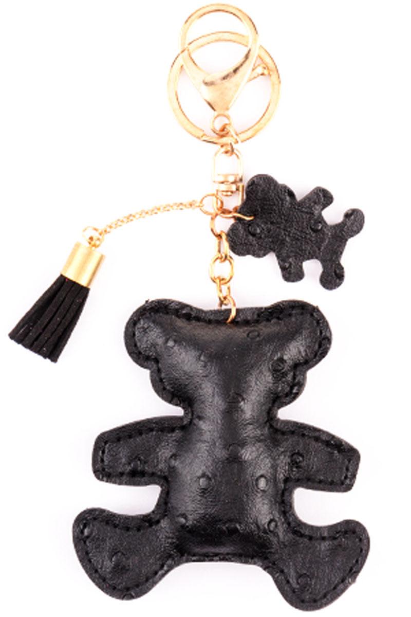 Брелок Медвежонок, цвет: черныйМеталлСтильный и практичный аксессуар, который можно использовать в разных целях, послужит достойным украшением вашей сумочки, одежды илиключей. Брелок в виде медвежонка выполнен из искусственной кожи.Крепится брелок при помощи прочного кольца и карабина, гарантирующих сохранность прикрепленных к брелоку ключей и самого брелока.Размер - 8 х 8 см.