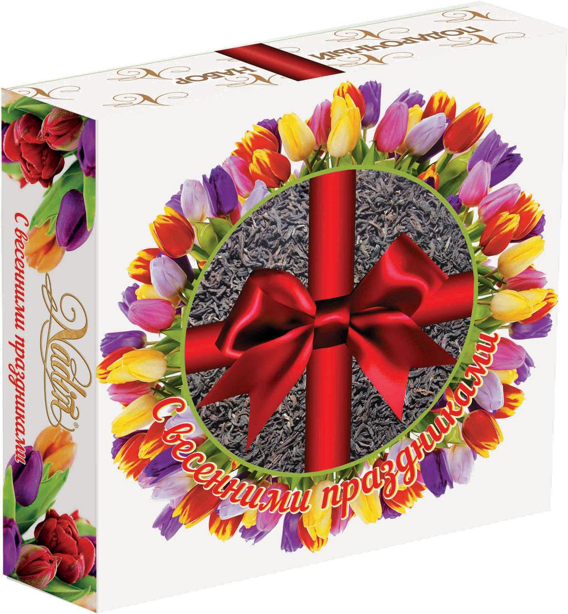 Nadin Подарочный набор 4 вида чая, 200 г greenfield barberry garden черный листовой чай 100 г