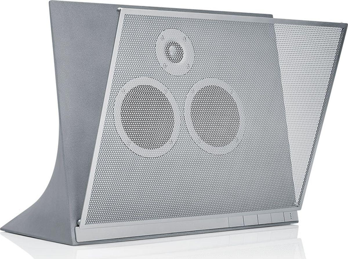 Master & Dynamic MA770, Grey беспроводная акустическая система15119743Беспроводная аудиосистема. На фоне конкурентов колонка выделяется необычным дизайном, разработанным британским архитектором сэром Дэвидом Аджайем. Он придумал колонку в корпусе из бетонного композита — до него никто такого не делал. Под защитной стальной решёткой находится панель из вручную обработанного бетона, украшенная двумя 4-дюймовыми ткаными кевларовыми вуферами и 1,5-дюймовым титановым ВЧ-динамиком. Одним из преимуществ использования бетона является отсутствие вибраций даже при прослушивании музыки на максимальной громкости. Колонку можно использовать как самостоятельно, так и в качестве стереопары или даже целого мультирум-комплекса с помощью встроенного сервиса Chromecast. Также стоит отметить наличие 100-ваттного усилителя класса D.- вес: 16,5 кг;- тип разъёма питания: гнездо IEC C8, 100-240 В;- цифровой аудиовход: оптический TOSLINK;- аналоговый аудиовход: 3,5 мм TRS;- версия Bluetooth: 4.1;- длина кабеля питания: 2 м.
