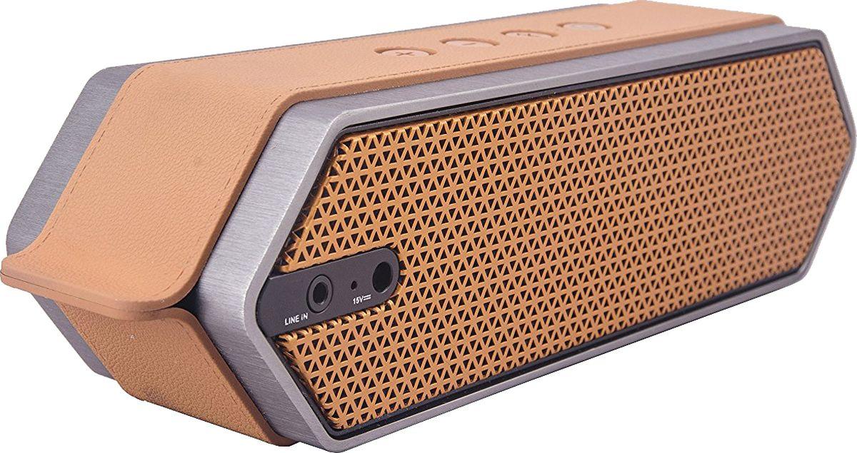 DreamWave Harmony II, Orange портативная акустическая система71000241DreamWave Harmony II – это элегантная колонка премиум-класса, которая способна передавать музыку так, как это задумывал исполнитель. Модель обладает выходной мощностью 16 Вт, оборудована встроенным аккумулятором ёмкостью 4500 мАч, что позволяет ей играть громче и дольше в сравнении с конкурентами. Благодаря сочетанию передовых технологий и тончайших настроек звука, Harmony II в состоянии передать музыку во всей полноте, сохраняя её первозданную глубину и ясность. Благодаря функции гарнитуры, вы сможете отвечать на входящие вызовы, на время разговора музыка будет останавливаться, а по окончании разговора снова вернётся к воспроизведению. В комплектации с колонкой поставляется мягкий бархатный чехол-сумка для удобной транспортировки, что позволяет брать её везде с собой и наслаждаться музыкой дома, в офисе, в машине или во время тренировок. Harmony II украшена декоративной полосой, стилизованной под кожу, сетка динамиков выполнена в стиле медовых сот, а звук исходит с обеих сторон колонки.Премиальная Hi-Fi-колонка с мощностью 16 Вт Bluetooth CSR 4.0 + EDR, A2DP AVRCP, APTX Аккумулятор 4500 мАч Работает до 16 часов подряд (6 часов на максимальной громкости) Звонки хэндз-фри, бесконтактная связь по NFC Звук Hi-Fi, защита от помех Сумка из мягкого вельвета в комплеекте