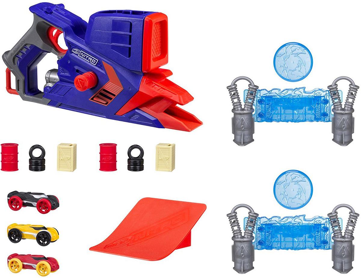 Nerf Игровой набор с машинкой Нерф Нитро Флэшфьюри набор игровой для мальчика poli средний трек с умной машинкой