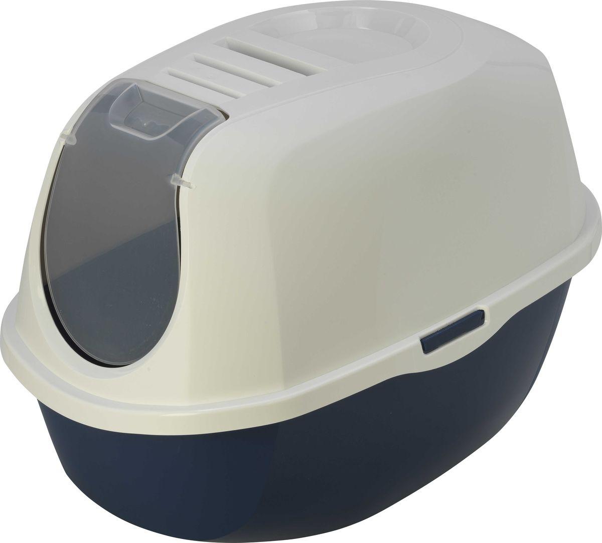 Туалет закрытый для кошек Moderna Smart Cat, цвет: черничный, 53 x 41 x 39 см14C370331Полупрозрачная дверь для дополнительной конфиденциальности. Легко очищается теплой мыльной водой. Угольный фильтр для уменьшения запаха.