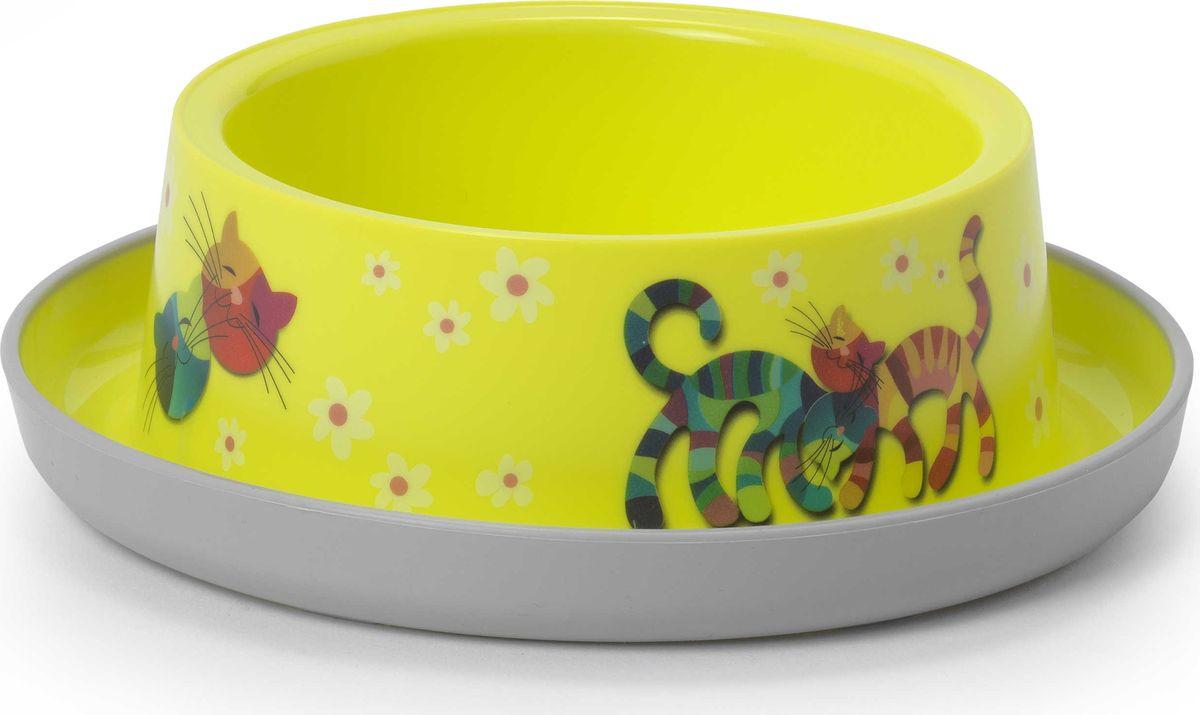 Миска для животных Moderna Trendy Dinner. Друзья навсегда, цвет: лимонный, 17 x 5,3 см14H131329Миска для животных Moderna Trendy Dinner. Друзья навсегда, цвет: лимонный, 17 x 5,3 см