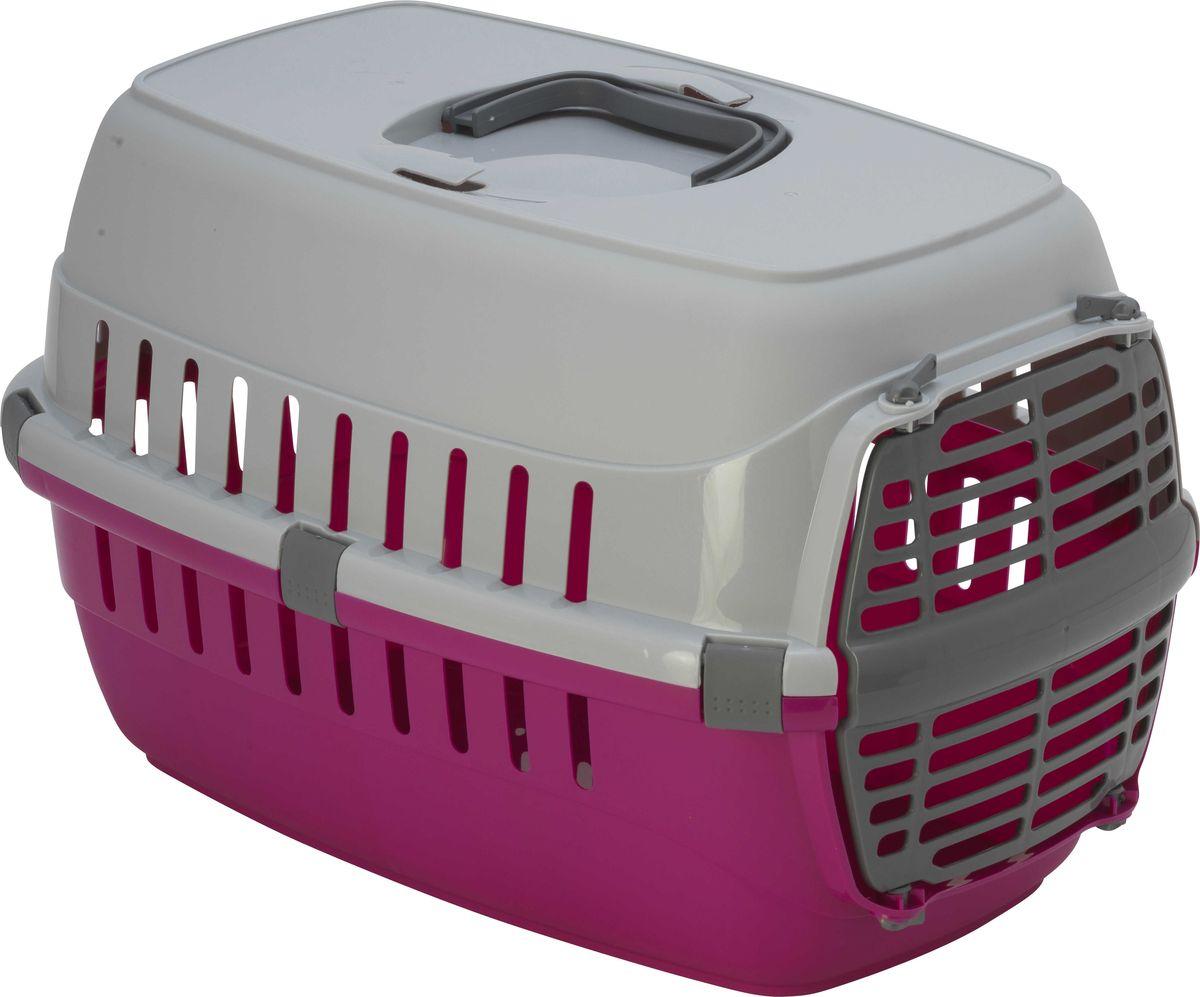 Переноска для животных Moderna Roadrunner 1, с пластиковой дверью, цвет: ярко-розовый, 51 x 31 x 34 см переноска для животных moderna trendy runner друзья навсегда цвет белый ярко розовый 51 х 31 х 34 см
