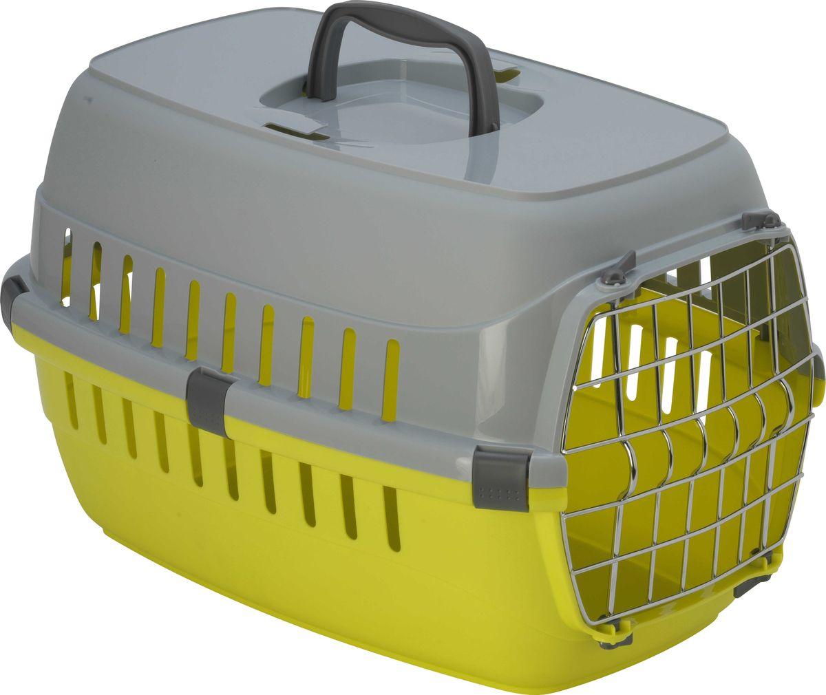 Переноска для животных Moderna  Roadrunner 1 , с металлической дверью, цвет: лимонный, 51 x 31 x 34 см - Переноски, товары для транспортировки